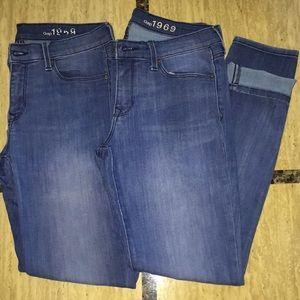 2pcs Gap Leggings/skinny Jeans